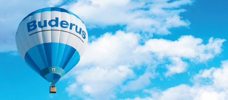 Buderus branded hot air balloon